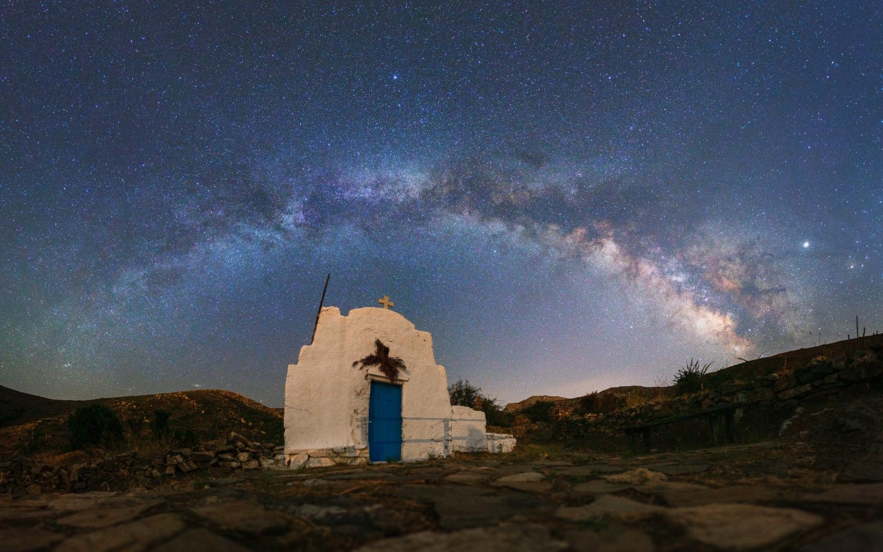 église grecque, paysage nocturne 122643-1570826068