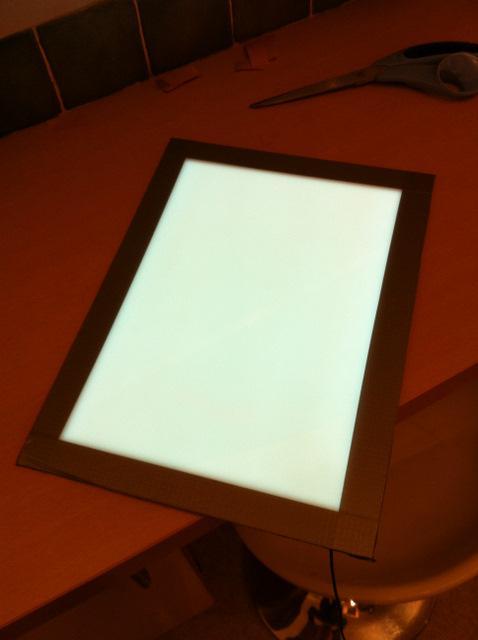 panneau  u00e9lectro-luminescent pour les flats