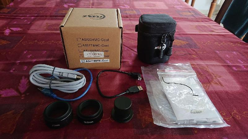 Caméra ZWO CMOS ASI178MMC Refroidie noir & blanc - Chip D=8,82 mm