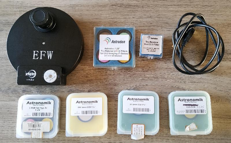Roue à filtres ASI ZWO 8x31.75 avec filtres LRVB SHO