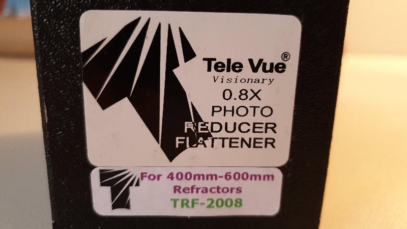 Réducteur Tele Vue 0.8X TRF-2008