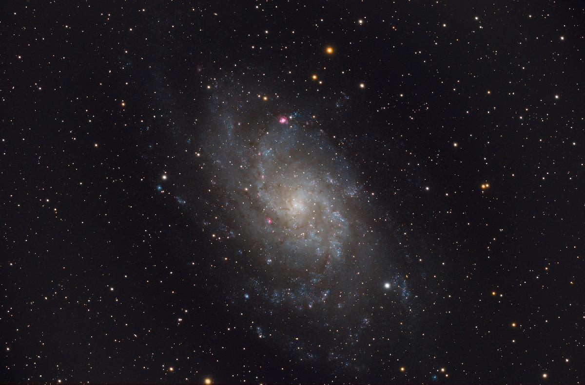M33... après petit post-traitement Lightroom