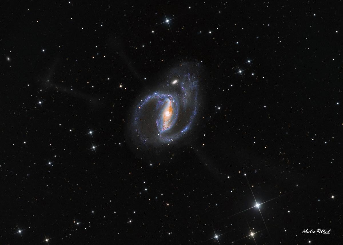 NGC 1097 et ses 4 jets