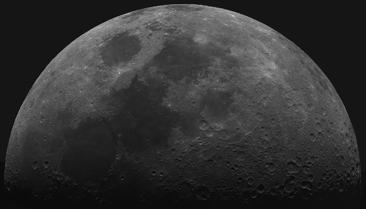 Lune du 20/06/2018 au T400/1800 + T7 Astro + Baader 610nm