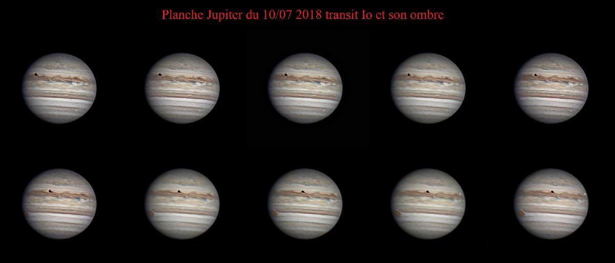 Jupiter et transite io et son ombre
