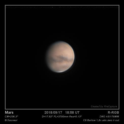 Mars du 17/09/2018