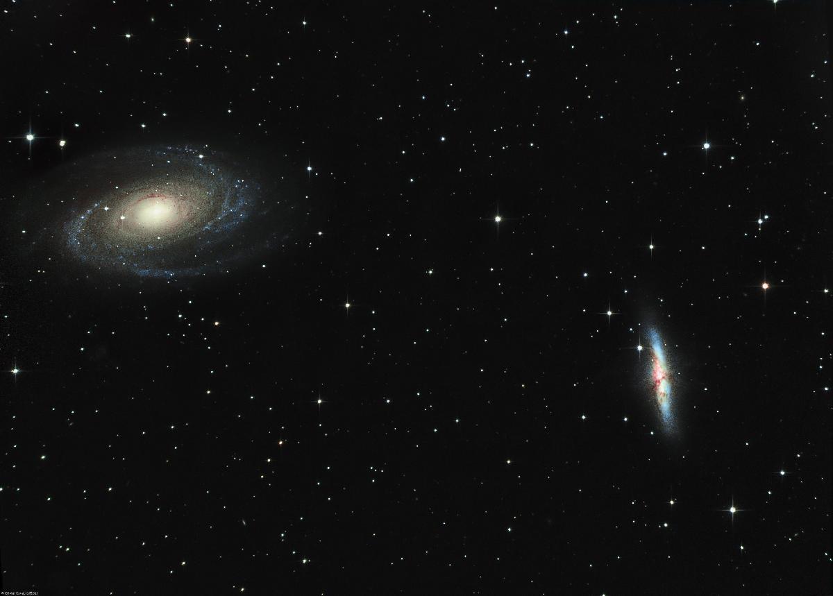 Galaxie de Bode (M81) et Galaxie du Cigare (M82)