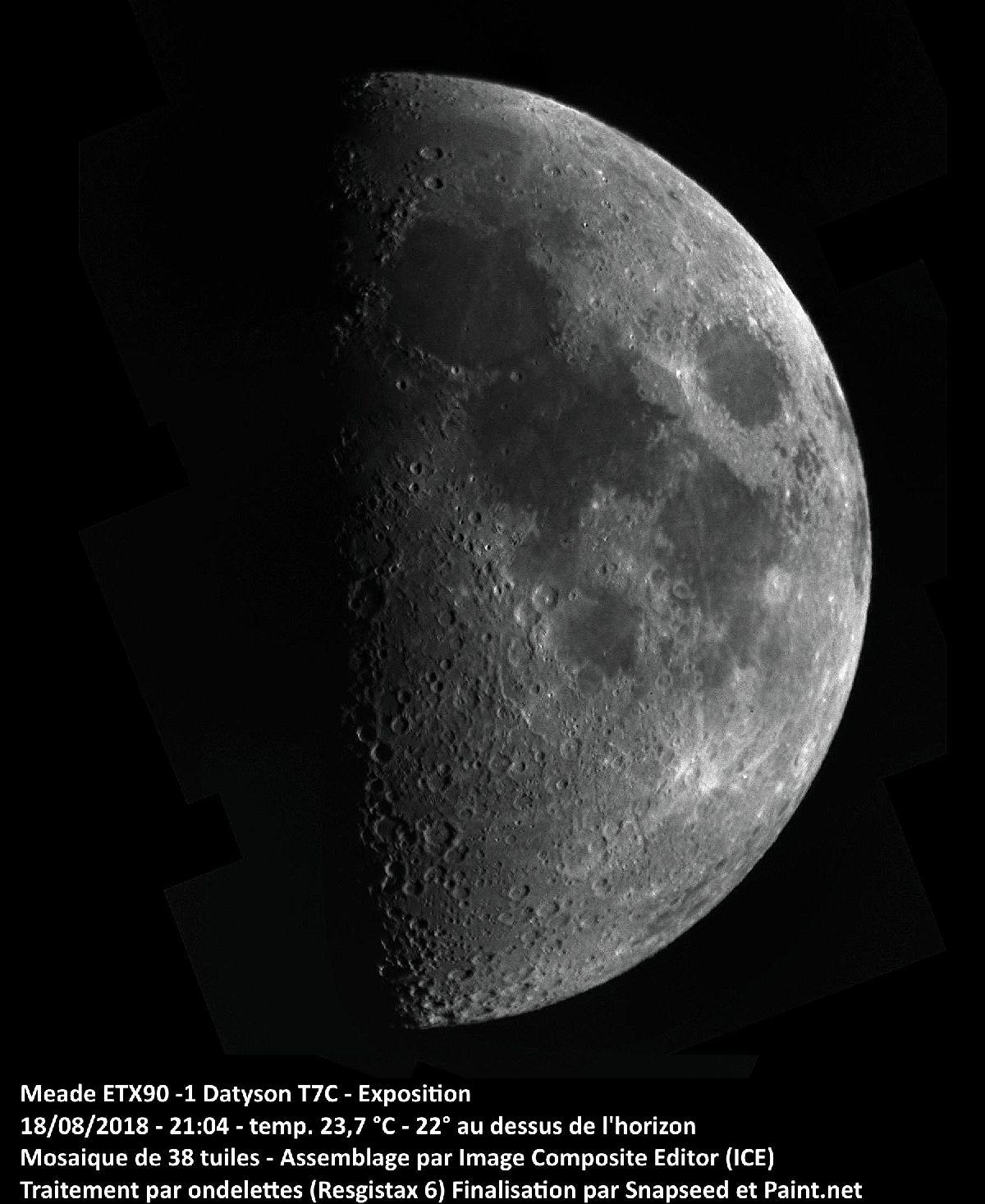 Lune 18 août 2018 - Mosaïque