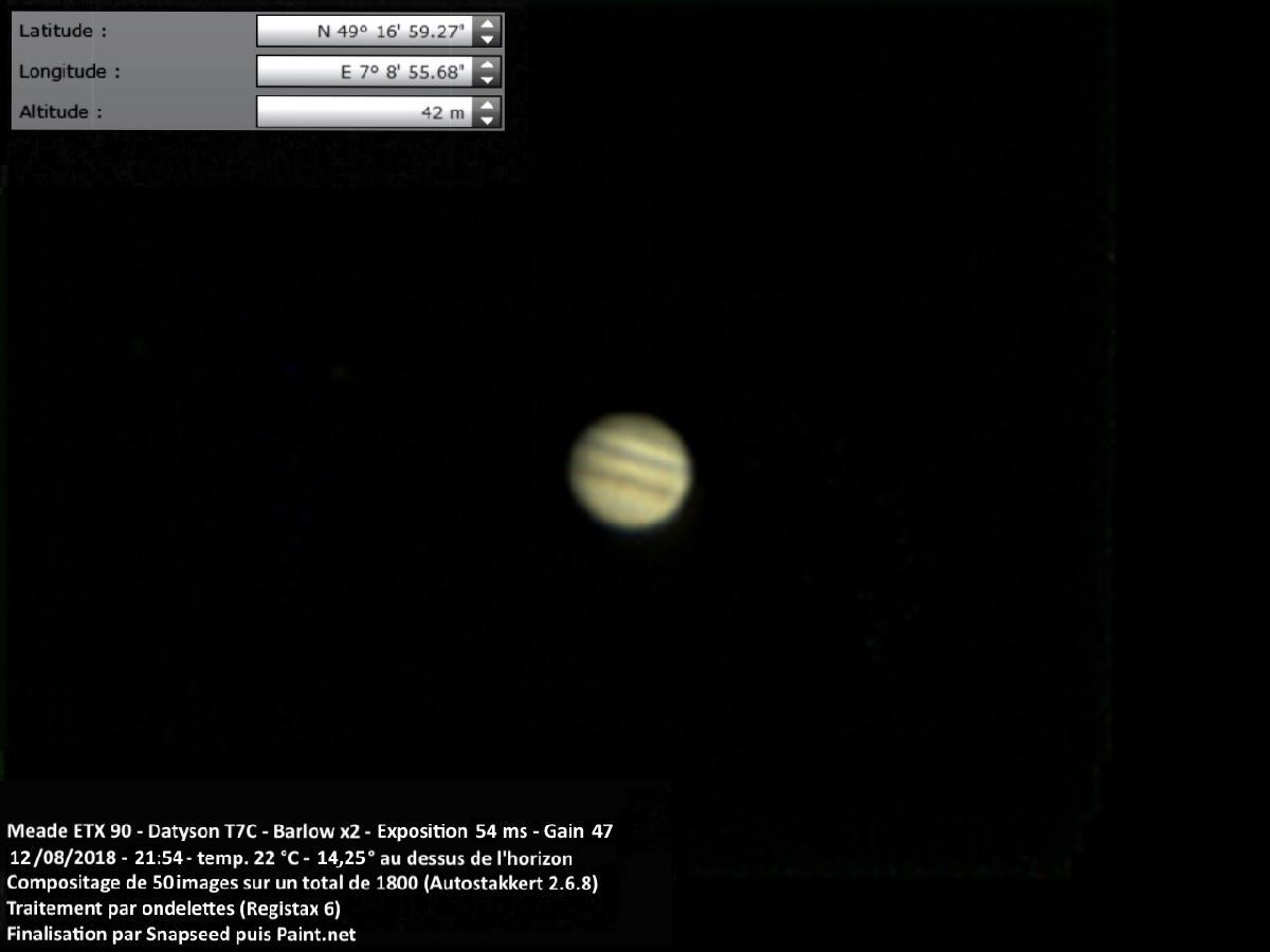Jupiter 12 août 2018