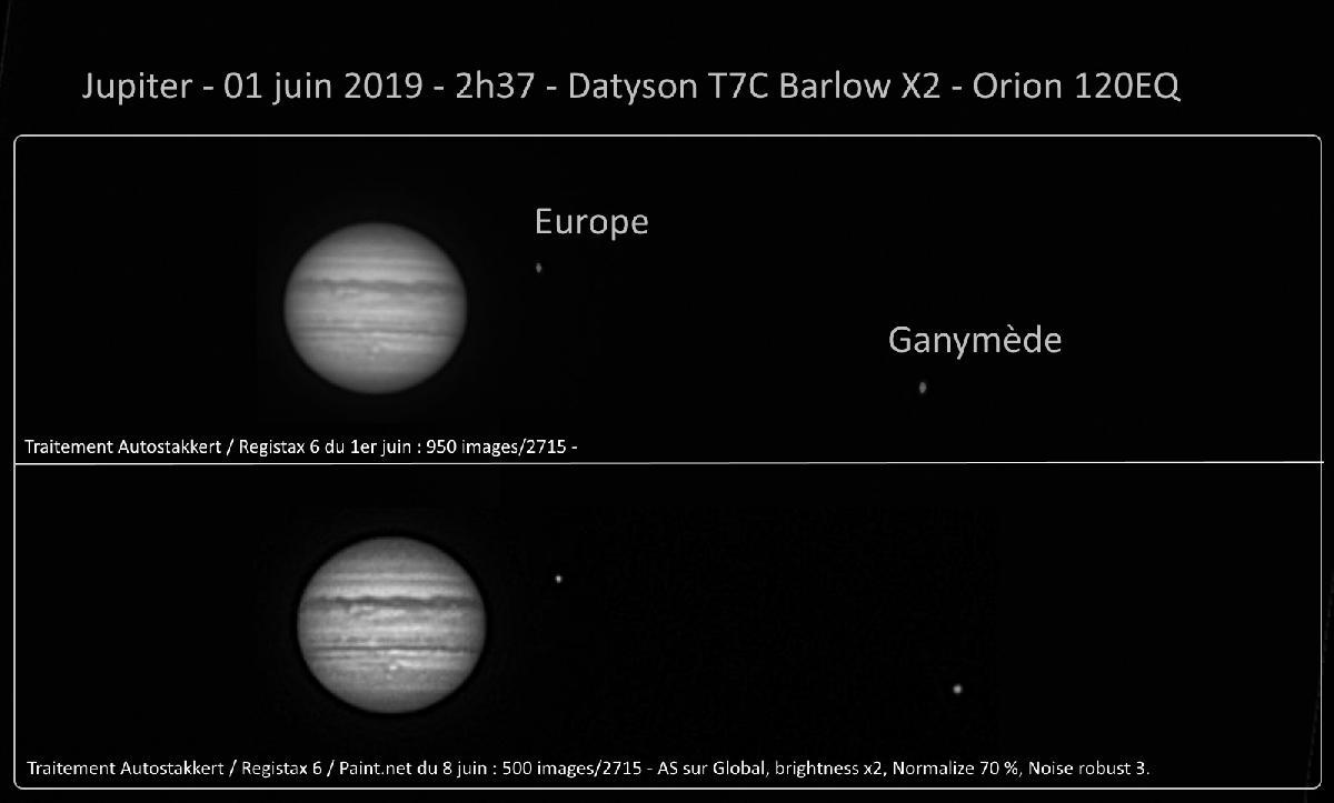 Jupiter du 1er juin 2019 - 2h34