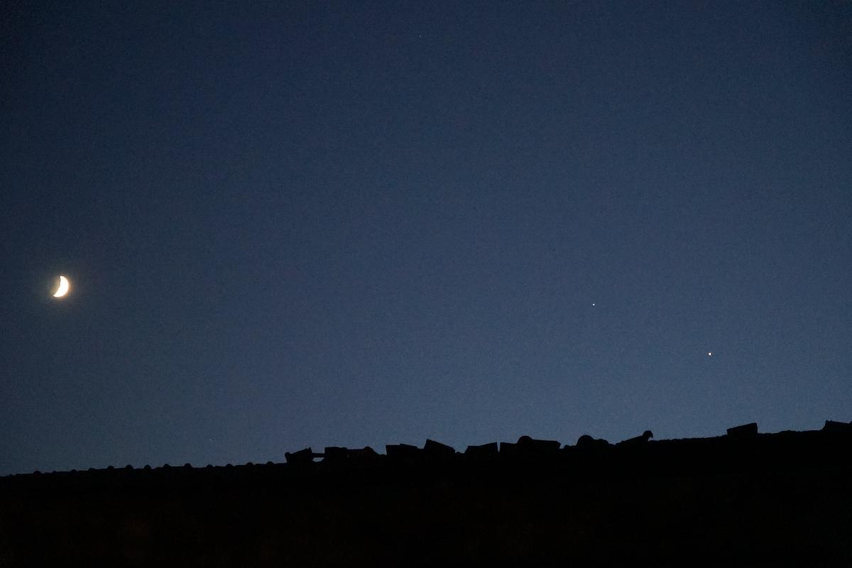 Lune, Saturne et Jupiter