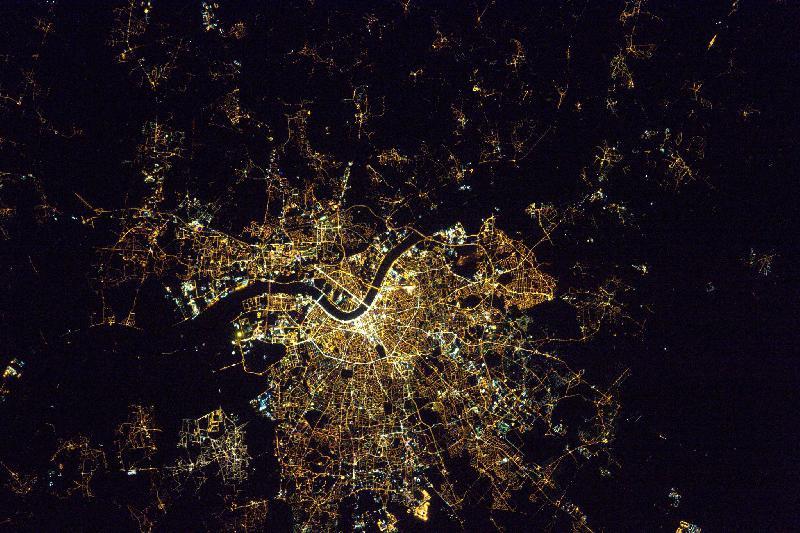Bordeaux vu de l'ISS par Thomas Pesquet