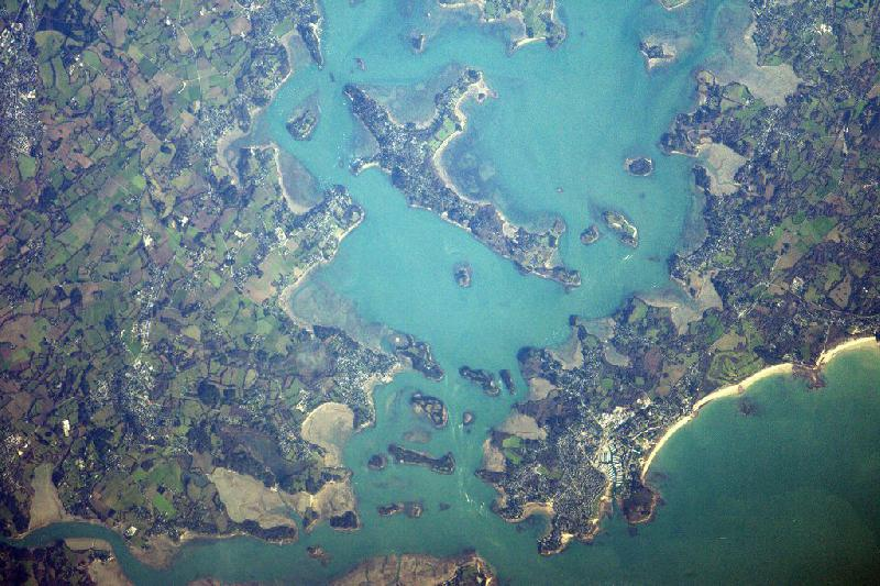 Golfe du Morbihan depuis l'ISS par T.Pesquet