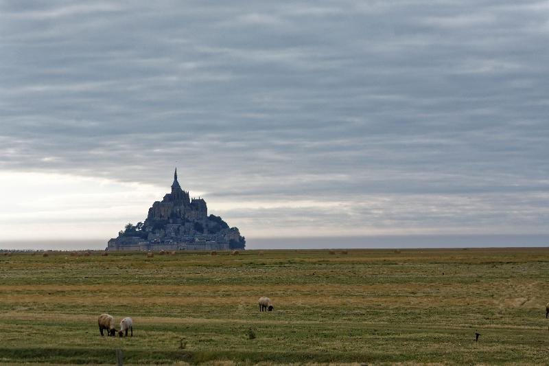 Eclipse au Mont Saint-Michel - 18h35