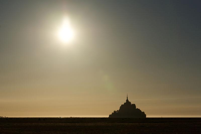 Eclipse au Mont Saint Michel - 20h34