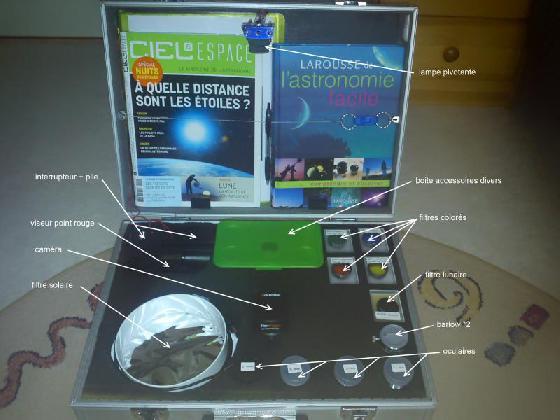 mallette d'astronomie
