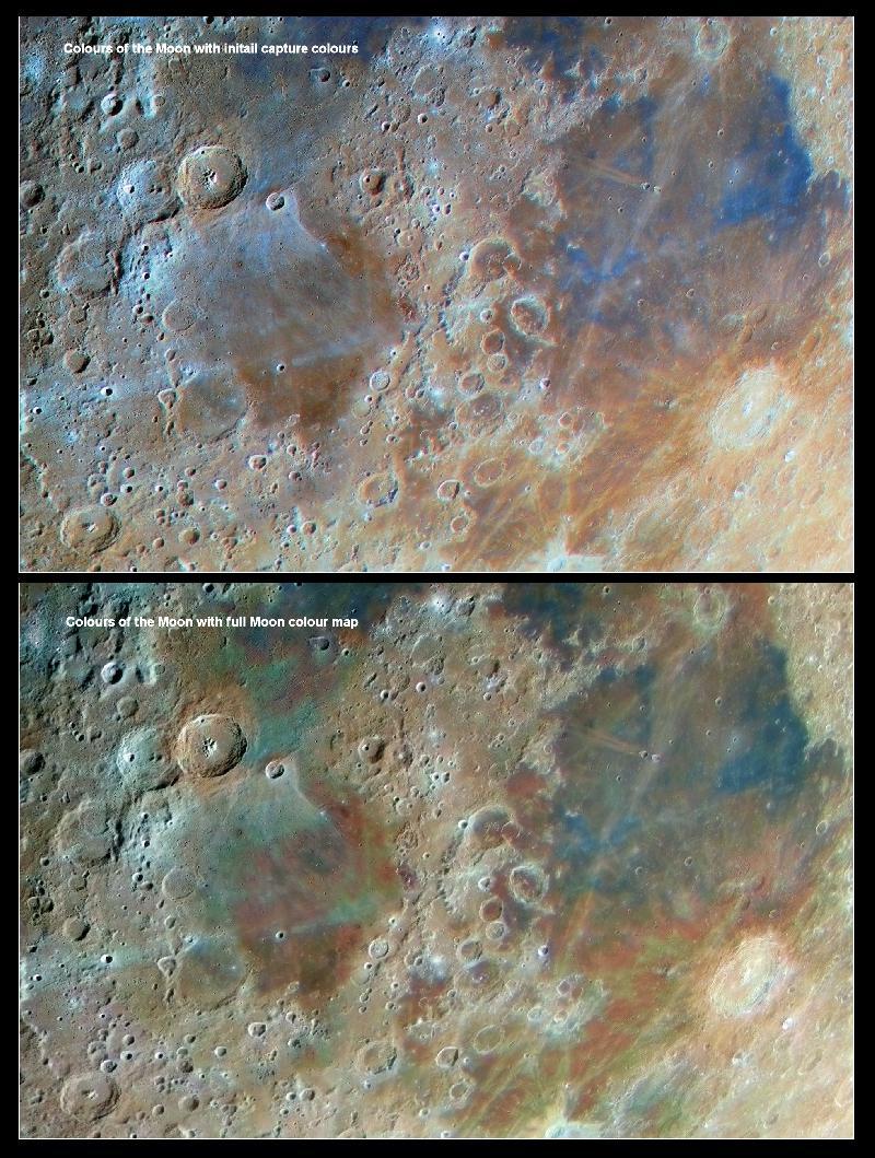 Comparaison couleurs Lune