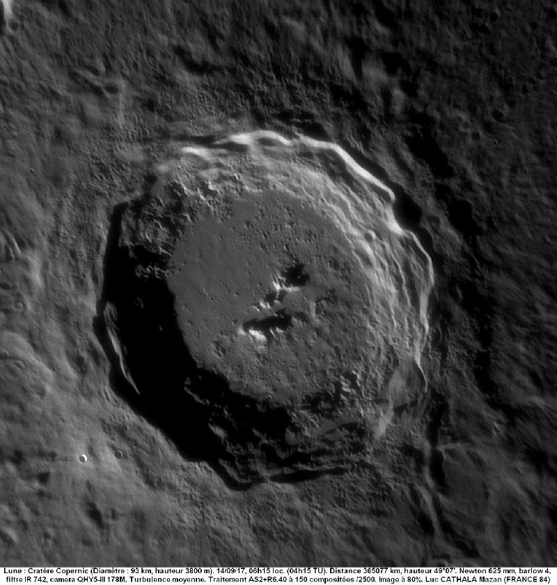 Cratère Copernic 14/09/17 625 mm barlow 4 IR742 80% Luc CATHALA