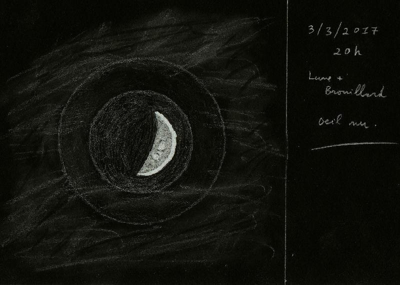 Lune dans nuages 2