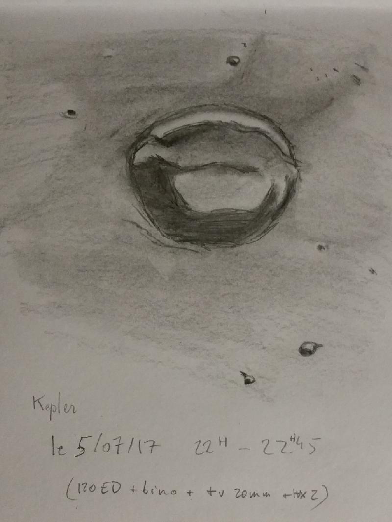 Lune - Kepler à la bino - 120ED