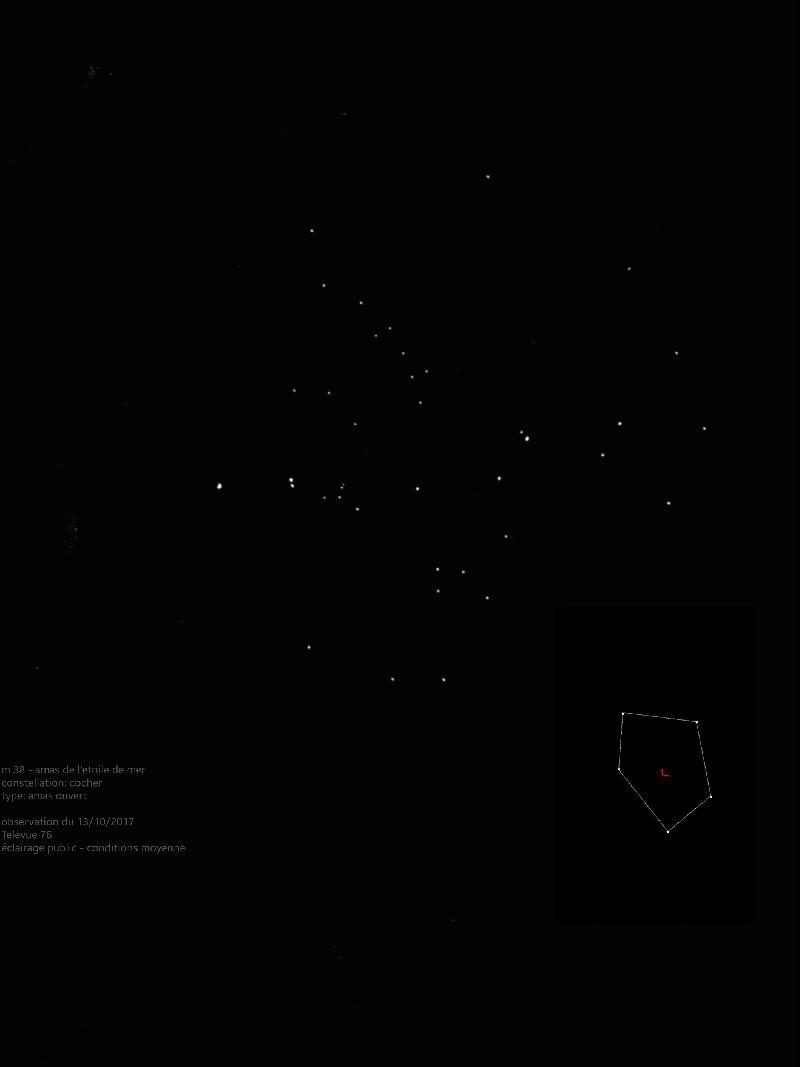 M38 - amas de l'etoile de mer