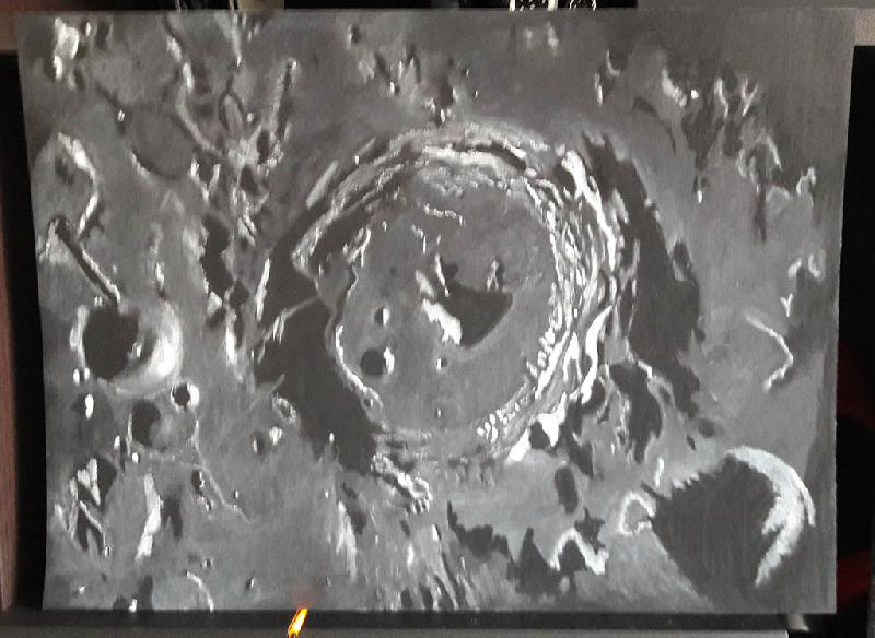 premier dessin astro de la lune