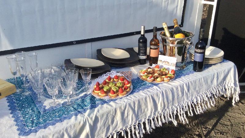Friandises, Champagnes et vins célestes assurés