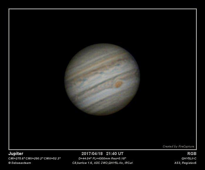 Jupiter 18 avril 2017