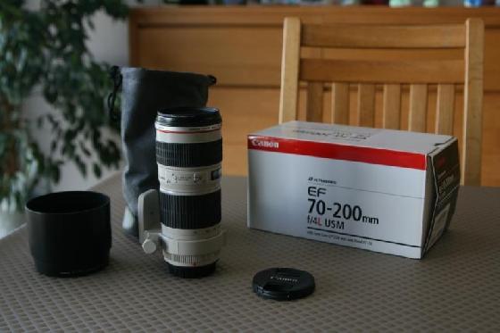 Canon 70-200 F/4L USM + acc's