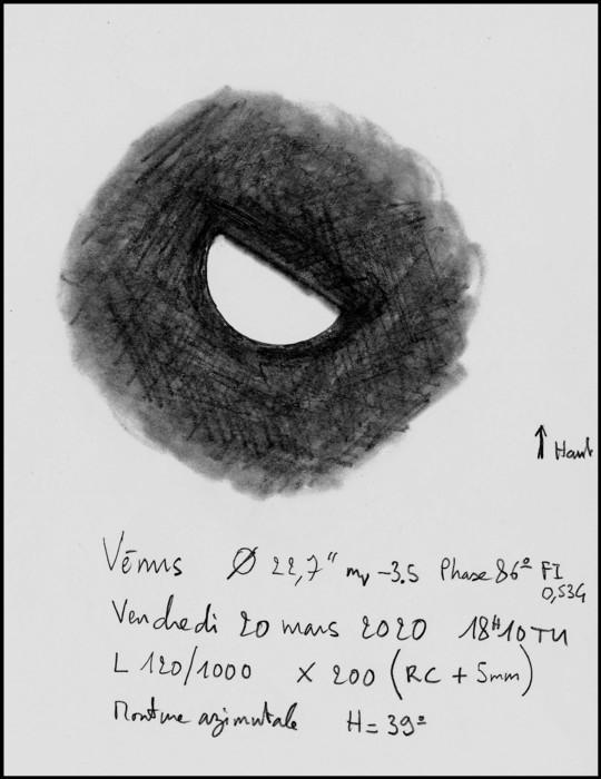 Vénus du 20/03/2020