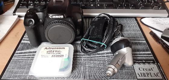 CAnon 1000D + filtre clip UHC-E Astronomik