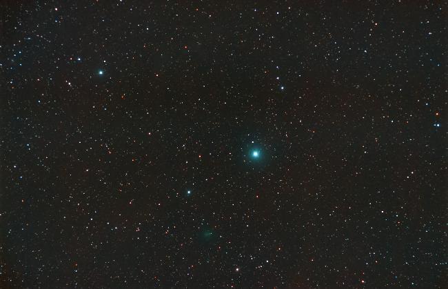 C/2020 M3 Atlas en grand champ (étoiles)