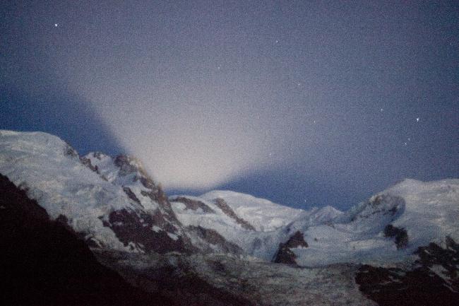 lever de lune sur Mt Blanc