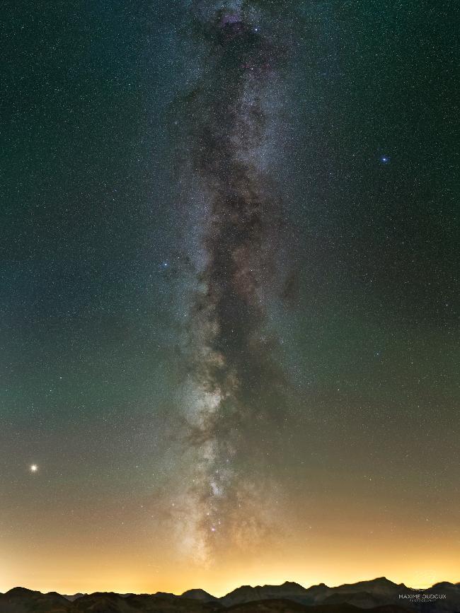 La Voie Lactée et l'Airglow