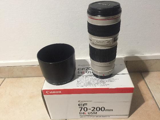 Objectif canon 70/200 f4L