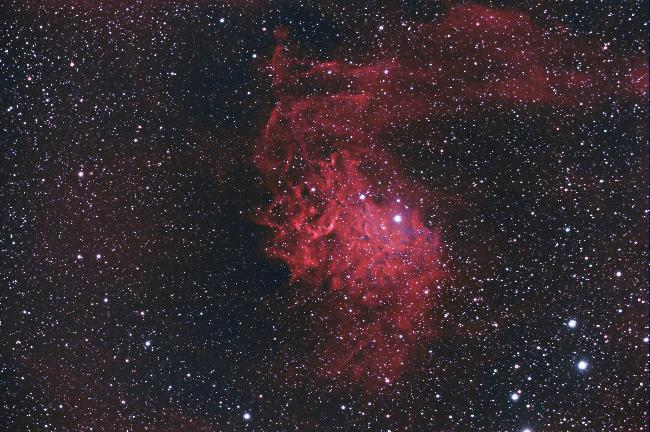 IC405 - Nébuleuse de l'étoile flamboyante