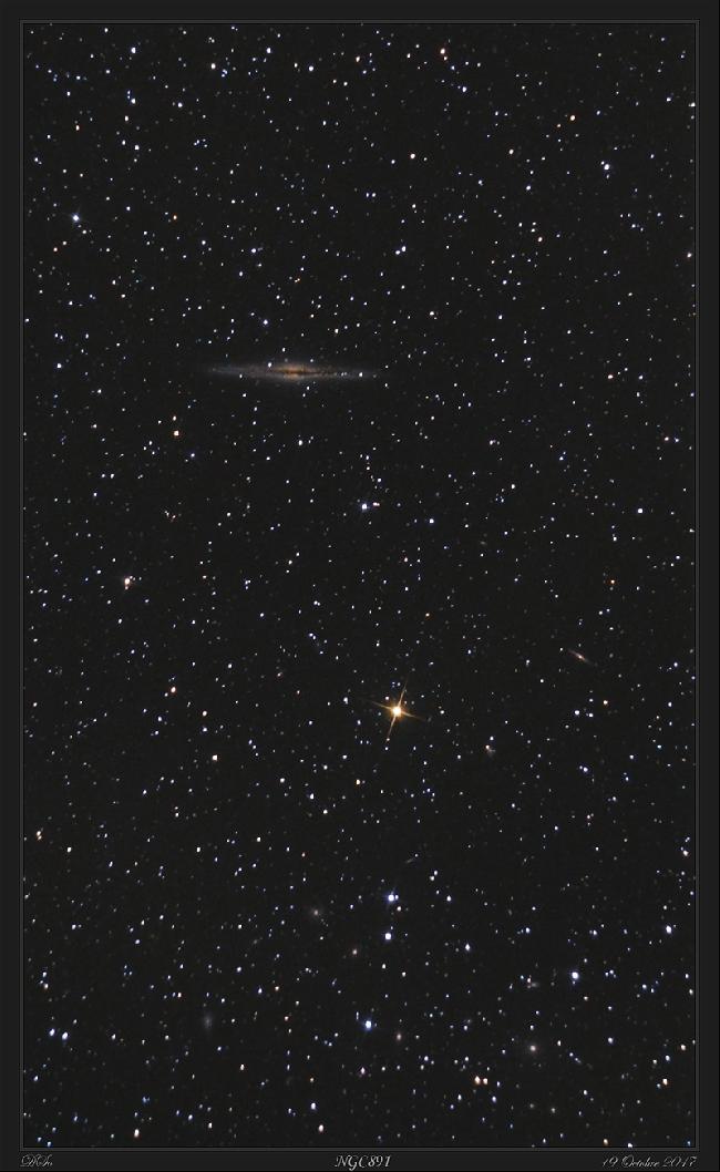 NGC 891 - 17 et 19 octobre 2017