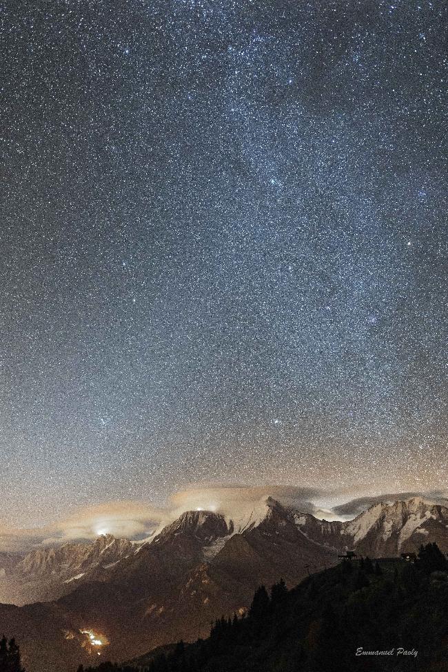 Lenticulaires, zodiacale et Voie Lactée