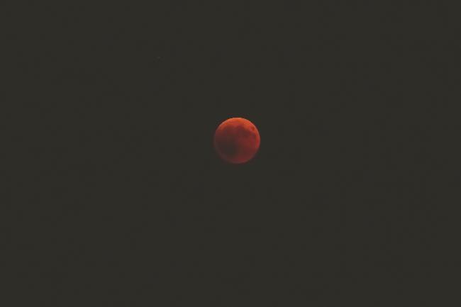 éclipse de lune du 27/07/2018 à Pully ( Suisse)