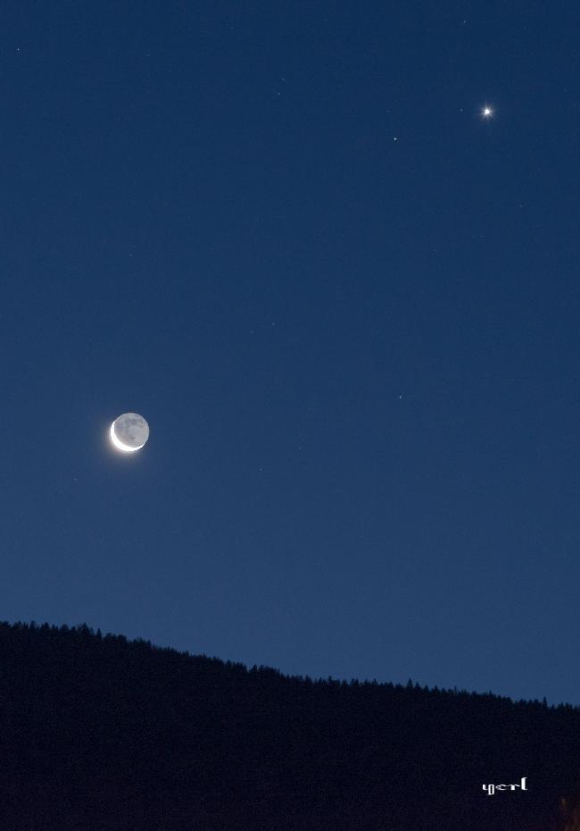 Lune et Venus, au petit matin