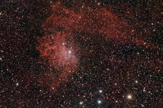 IC405 - La Nébuleuse de l'étoile flamboyante