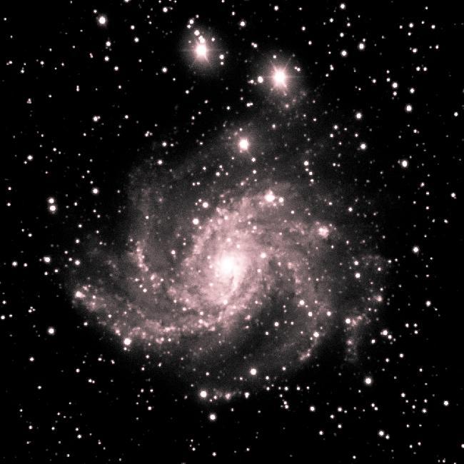 Galaxie du feu d'artifice