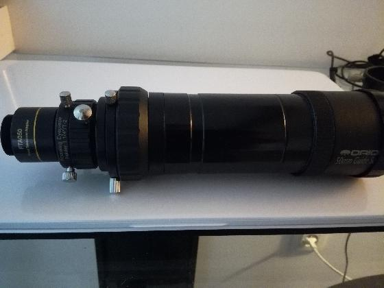 Orion 50mm guide scope + colliers fixation
