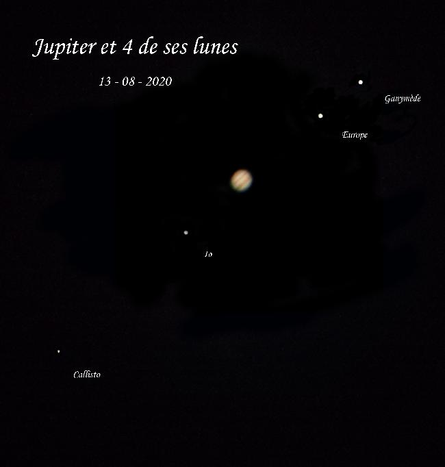 Jupiter et 4 lunes