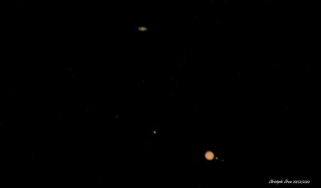 Sature et Jupiter