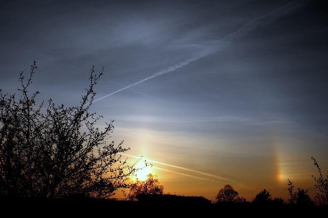 Petit halo solaire du 24/03/2021