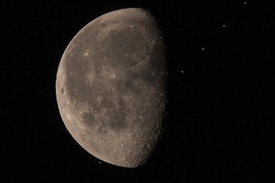passage ISS devant la Lune