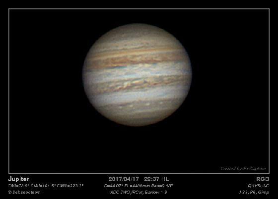 Jupiter 17 Avril 2017