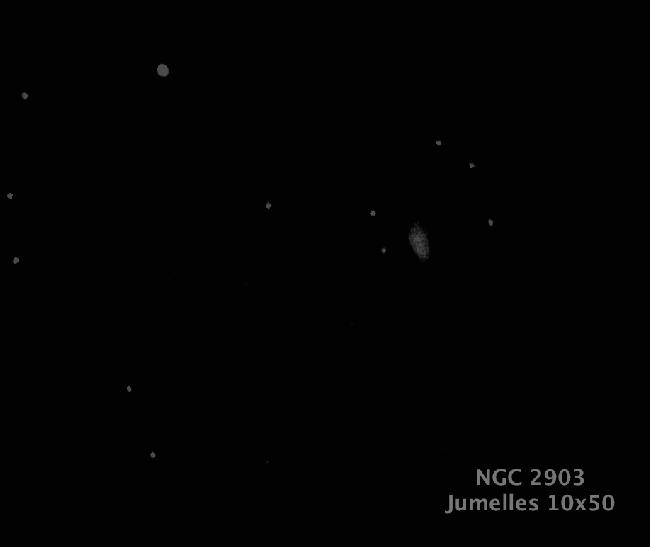 NGC 2903 Jumelles 10x50