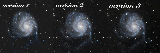 Comparaison M101 v1/v2/v3